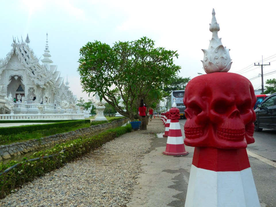Wat Rong Khun White Temple Thailand Skull