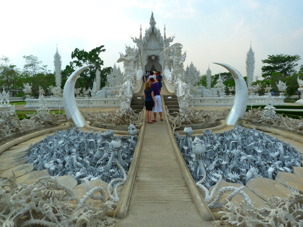 Wat Rong Khun White Temple Thailand Entrance