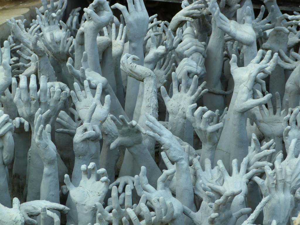 Wat Rong Khun White Temple Thailand Hands
