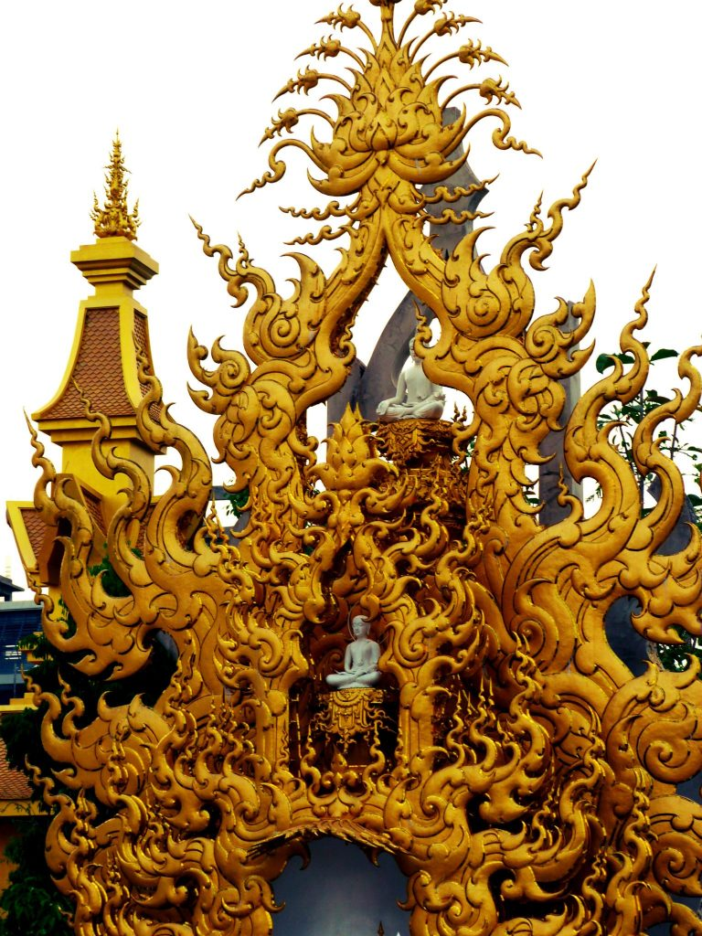 Wat Rong Khun White Temple Thailand Gold Gate