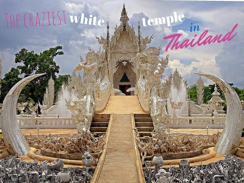The craziest white temple in Thailand