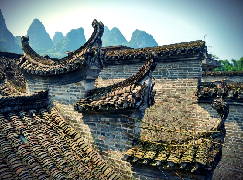 Xingping Fishing Village Rooftops