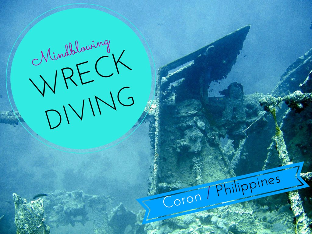Did you know that Coron in the Philippines has some of the most amazing wreck diving in the world? Under the sea there are eleven Japanese war ships here and you can explore inside them! They are at all different levels so even if you're a beginner, you can still see some. Go check out diving on Coron Island! www.teacaketravels.com